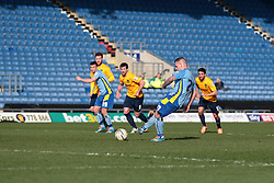 Burton Albion forward Billy Kee (29) has his penalty kick saved  - Photo mandatory by-line: Nigel Pitts-Drake/JMP - Tel: Mobile: 07966 386802 08/03/2014 - SPORT - FOOTBALL -  Kassam Stadium - Oxford - Oxford United v Burton Albion - Sky Bet League Two