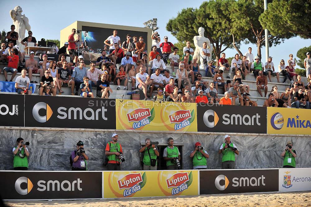Roma, 20 giugno 2013<br /> Beach Volley Swatch FIVB World Tour - Smart Grand Slam Rome 2013. Foro Italico.<br /> Giorno 3 - Uomini - Secondo turno Pool A<br /> Nicolai-Lupo ITA vs Nummerdor-Schuil NED 2-1(21-18, 17-21, 15-11)<br /> foto di Simone Ferraro / GMT