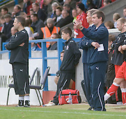 Dundee interim boss Barry Smith (closest)  - Stirling Albion v Dundee, IRN BRU Scottish League 1st Division, Forthbank Stadium, Stirling<br /> <br />  - © David Young<br /> ---<br /> email: david@davidyoungphoto.co.uk<br /> http://www.davidyoungphoto.co.uk