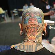 London, UK. 27 May 2017. Hundreds attends The Great British Tattoo Show at Alexandra Palace, London,UK.