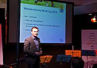 DEN HAAG - Infostrada tijdens de persbijeenkomst met betrekking tot het te houden WK hockey 2014 in het Kyocera voetbalstadion. FOTO KOEN SUYK