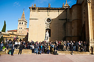 Photographers at Alfonso II Square (Cathedral's Square) for Princesa de Asturias Awards 2019 on October 17, 2019 in Oviedo, Spain