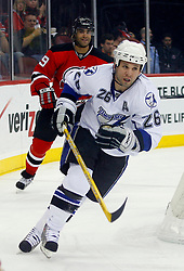 March 7, 2008; Newark, NJ, USA; Tampa Bay Lightning right wing Martin St. Louis (26) skates during the first period at the Prudential Center in Newark, NJ.