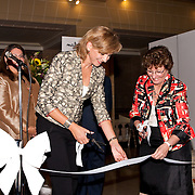 Infanta Cristina of Spain performing a ribbon cutting for the Pan American World Health Organization Washington, D.C.