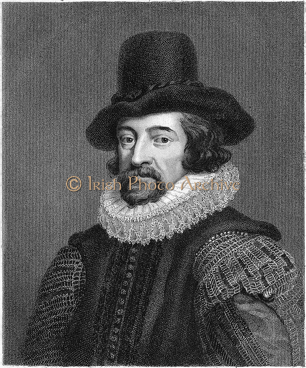 Francis Bacon (1561-1626) Viscount S Albans. English philosopher, scientist and statesman. Lord Chancellor 1618; believed science should be based on observation and experiment rather than Aristotelian deductive logic. Engraving.