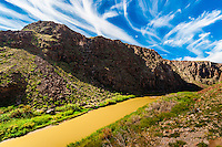 The Camino del Rio (along the Rio Grande River, which is the border of the USA and Mexico. Mexico is in background), Big Bend Ranch State Park, Texas USA.