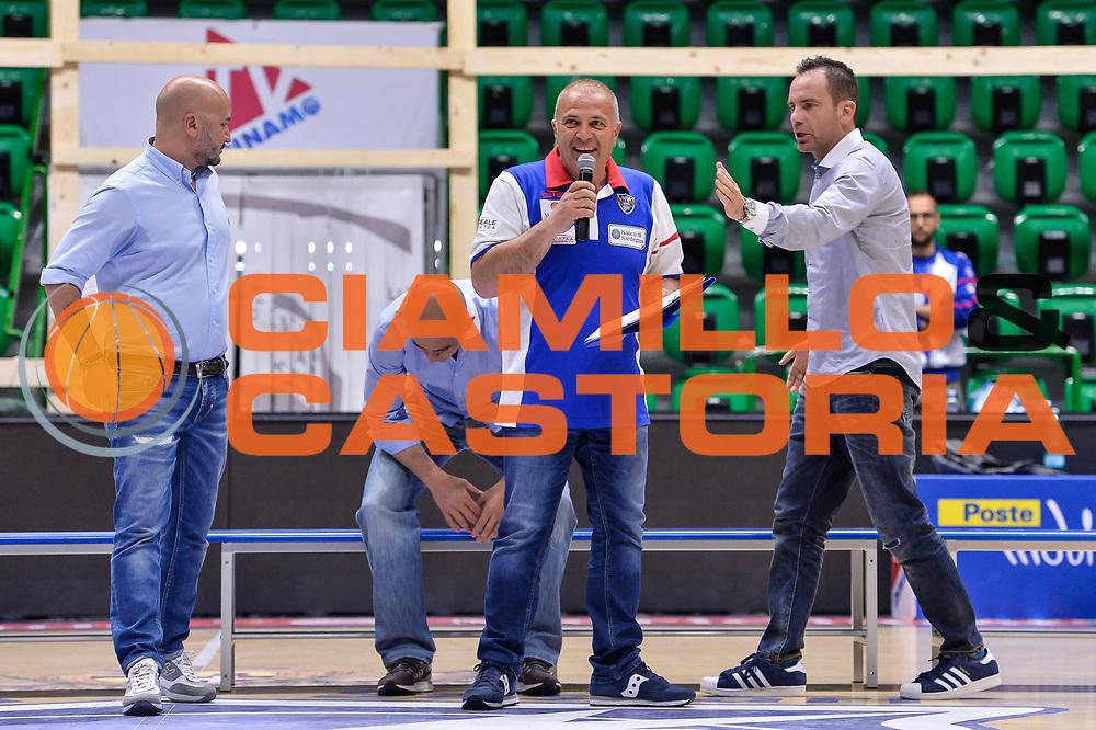 Ico Ribichesu Paolo Citrini<br /> Saluti Finali Banco di Sardegna Dinamo Sassari<br /> Legabasket Serie A LBA Poste Mobile 2016/2017<br /> Sassari 18/05/2017<br /> Foto Ciamillo-Castoria
