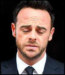 April 16, 2018 - London, London, United Kingdom - Ant McPartlin at Wimbledon Magistrates Court. Ant McPartlin leaving Wimbledon Magistrates Court in South West London, UK, after being fined £86,000 and banned from the roads for 20 months driving while under the influence of alcohol. (Credit Image: © Andrew Parsons/i-Images via ZUMA Press)