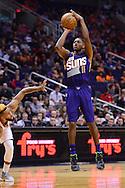 Nov 2, 2016; Phoenix, AZ, USA; Phoenix Suns guard Brandon Knight (11) shoots the ball against the Portland Trail Blazers during the first half at Talking Stick Resort Arena. Mandatory Credit: Jennifer Stewart-USA TODAY Sports
