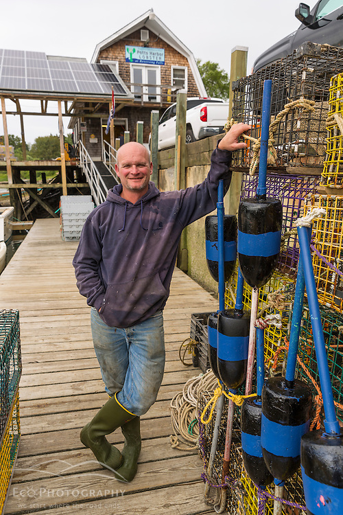 "Jim Merryman, captain of the ""Hunter James"" and owner of Potts Harbor Lobster in Harpswell, Maine."