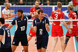 20170524 NED: 2018 FIVB Volleyball World Championship qualification, Koog aan de Zaan<br />Andreas Andreadis (10) of Greece, Mittag Tzourits (2) of Greece <br />©2017-FotoHoogendoorn.nl / Pim Waslander