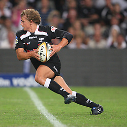 DURBAN, SOUTH AFRICA - MAY 08:  Patrick Lambie<br /> during the Super 14 match between Sharks and Vodacom Stormers from Absa Stadium on May 08, 2010 in Durban, South Africa.<br /> Photo by Steve Haag / Gallo Images
