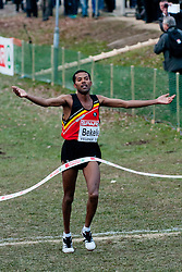 Atelaw Yeshetela Bekele of Belgium wins the race during the Senior Men's race during the 18th SPAR European Cross Country Championships Velenje 2011, on December 11, 2011 in Stadium Ob jezeru, Velenje, Slovenia. (Photo By Matic Klansek Velej / Sportida.com)