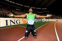 Friidrett<br /> IAAF Diamond League<br /> Brussel 16.09.2011<br /> Foto: PhotoNews/Digitalsport<br /> NORWAY ONLY<br /> <br /> Yohan Blake (USA) celebrating his victory on the 200m Men