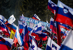Slovenian flags and supporters of Peter Prevc (SLO) during Ski Flying Hill Individual Competition at Day 4 of FIS Ski Jumping World Cup Final 2016, on March 20, 2016 in Planica, Slovenia. Photo by Vid Ponikvar / Sportida