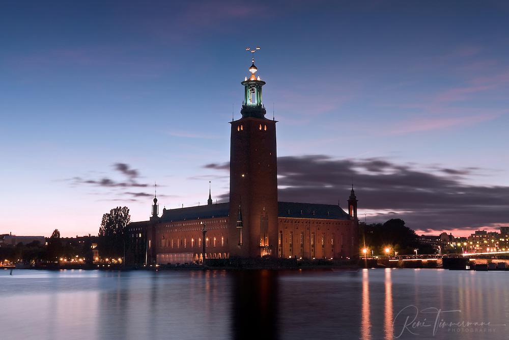 City Hall (Stadshuset) of Stockholm, Sweden