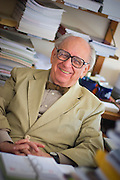 (Cambridge, MA - September 12, 2006) - Herbert C. Kelman, Richard Clarke Cabot Professor of Social Ethics, Emeritus at Harvard University inside his office in William James Hall. Staff Photo Justin Ide/Harvard News Office