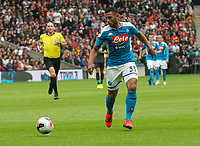EDINBURGH, SCOTLAND - JULY 28: <br /> Napoli Left-Back, Faouzi Ghoulam, during the Pre-Season Friendly match between Liverpool FC and SSC Napoli at Murrayfield on July 28, 2019 in Edinburgh, Scotland. (Photo by MB Media)