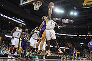 Feb. 16, 2011; Cleveland, OH, USA; Los Angeles Lakers power forward Pau Gasol (16) and Cleveland Cavaliers power forward Antawn Jamison (4) fight for a rebound during the third quarter at Quicken Loans Arena. The Cavaliers beat the Lakers 104-99. Mandatory Credit: Jason Miller-US PRESSWIRE