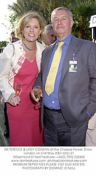 SIR TERENCE & LADY CONRAN at the Chelsea Flower Show, London on 21st May 2001.	OOJ 21