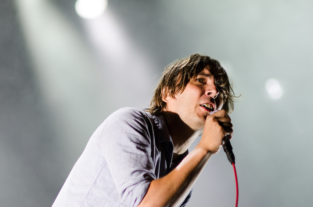 Thomas Mars of Phoenix at Lollapalooza