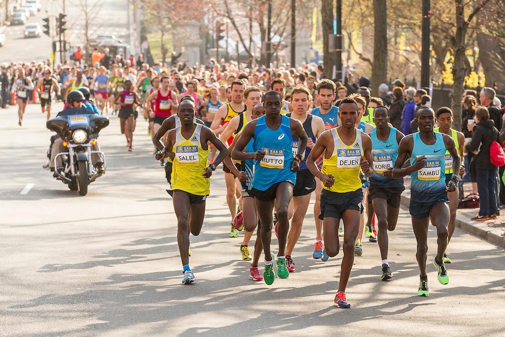 BAA 5K, Dejen Gebremeskel leads race