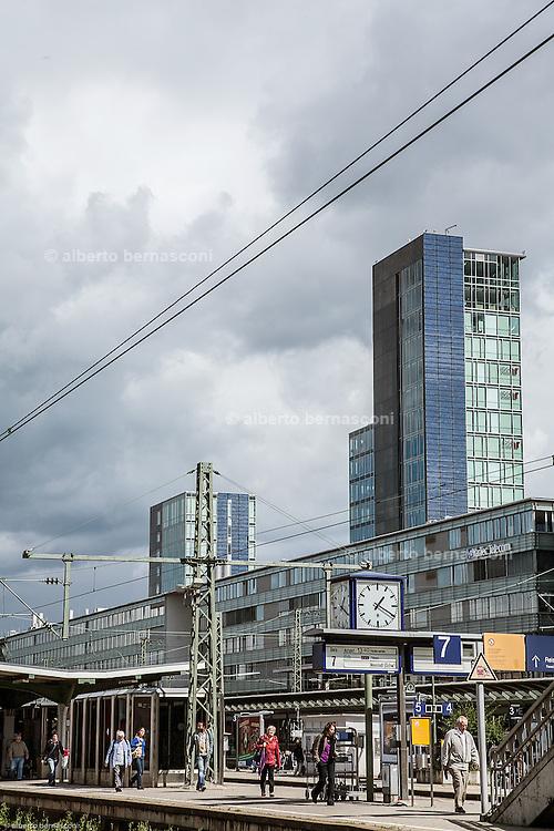Germany, Freiburg , the solar Tower Hauptbanhof