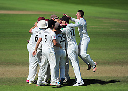 Somerset celebrate victory.  - Mandatory by-line: Alex Davidson/JMP - 06/08/2016 - CRICKET - The Cooper Associates County Ground - Taunton, United Kingdom - Somerset v Durham - County Championship - Day 3
