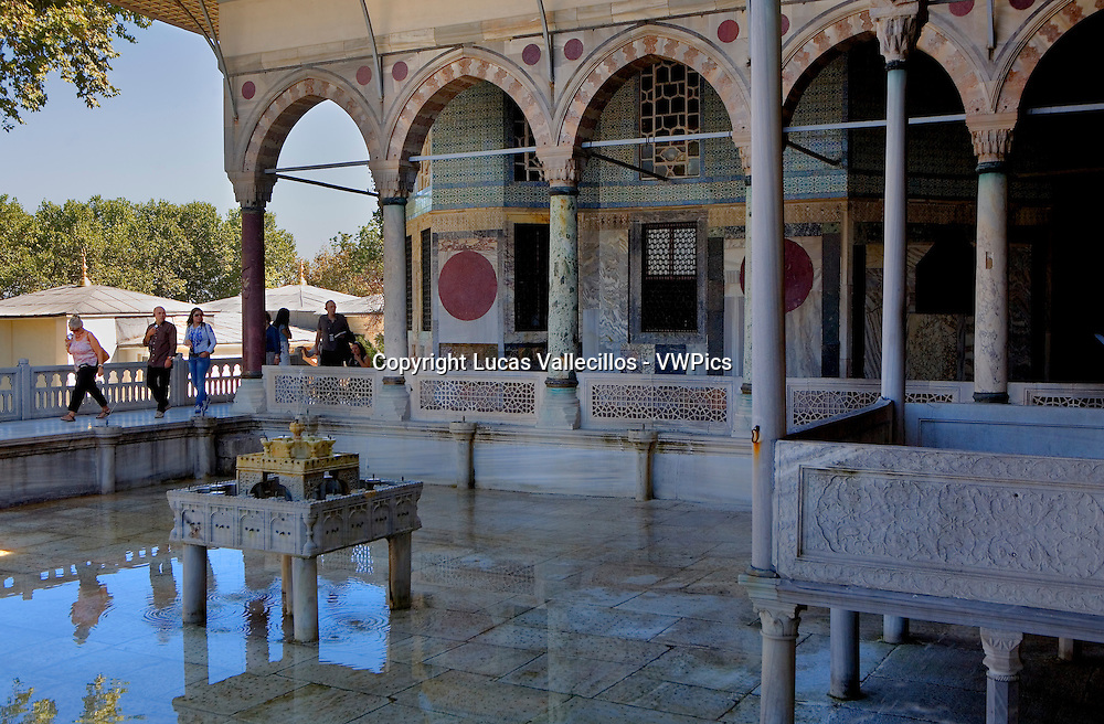 Topkapi Palace. Circumcision room in Summer Pavilion. Istanbul Turkey