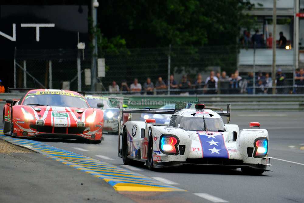 June 17, 2018 - Le Mans, Sarthe, France - Dragonspeed BR Engineering BR1 Gibson Driver RENGER VAN DER ZANDE (NLD) in action during the 86th edition of the 24 hours of Le Mans 2nd round of the FIA World Endurance Championship at the Sarthe circuit at Le Mans - France (Credit Image: © Pierre Stevenin via ZUMA Wire)