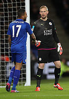 Football - 2016 / 2017 Premier League - Leicester City vs. Liverpool<br /> <br /> Kasper Schmeichel and Danny Simpson of Leicester City during the match at The King Power Stadium.<br /> <br /> COLORSPORT/LYNNE CAMERON
