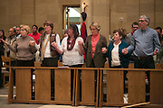 Parishioners from Tioga County during the Chrism Mass at Sacred Heart Cathedral in Rochester on Tuesday, March 31, 2015.