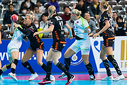 30-11-2019 JAP: Netherlands - Slovenia, Kumamoto<br /> First day 24th IHF Womenís Handball World Championship, Netherlands lost the first match against Slovenia with 26 - 32. / Jessy Kramer #5 of Netherlands