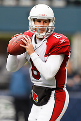 October 24, 2010; Seattle, WA, USA;  Arizona Cardinals quarterback Max Hall (6) warms up before the game against the Seattle Seahawks at Qwest Field.