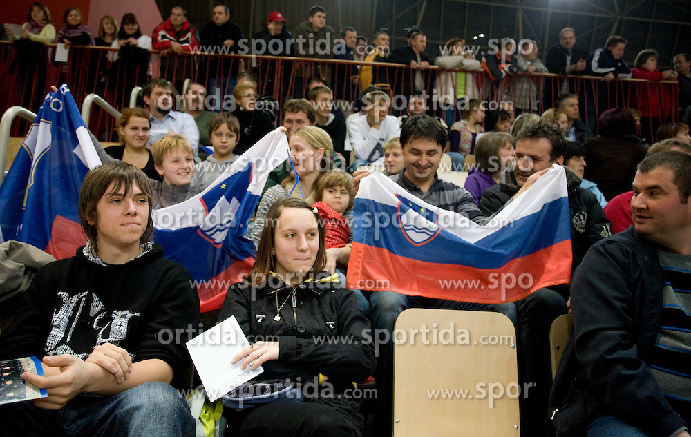 Fans at Open training session for the public of Slovenian handball National Men team before European Championships Austria 2010, on December 27, 2009, in Terme Olimia, Podcetrtek, Slovenia.  (Photo by Vid Ponikvar / Sportida)