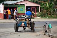 Horse and cart in Niquero, Granma, Cuba.