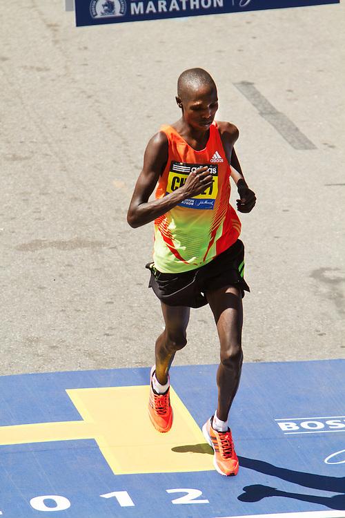 Wilson Chebet, Kenya, crosses in 5th place