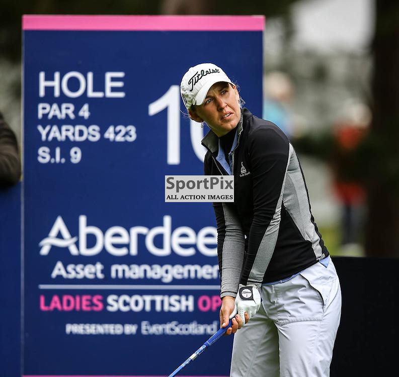 Sally Watson (Scotland) prepares to tee off at the 10th hole. Aberdeen Asset Management Ladies Scottish Open (c) [Neil Bain] | SportPixPix.org.uk