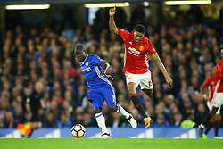 Ngolo Kante of Chelsea wins the ball from Marcus Rashford of Manchester United - Mandatory by-line: Jason Brown/JMP - 13/03/2017 - FOOTBALL - Stamford Bridge - London, England - Chelsea v Manchester United - Emirates FA Cup Quarter Final