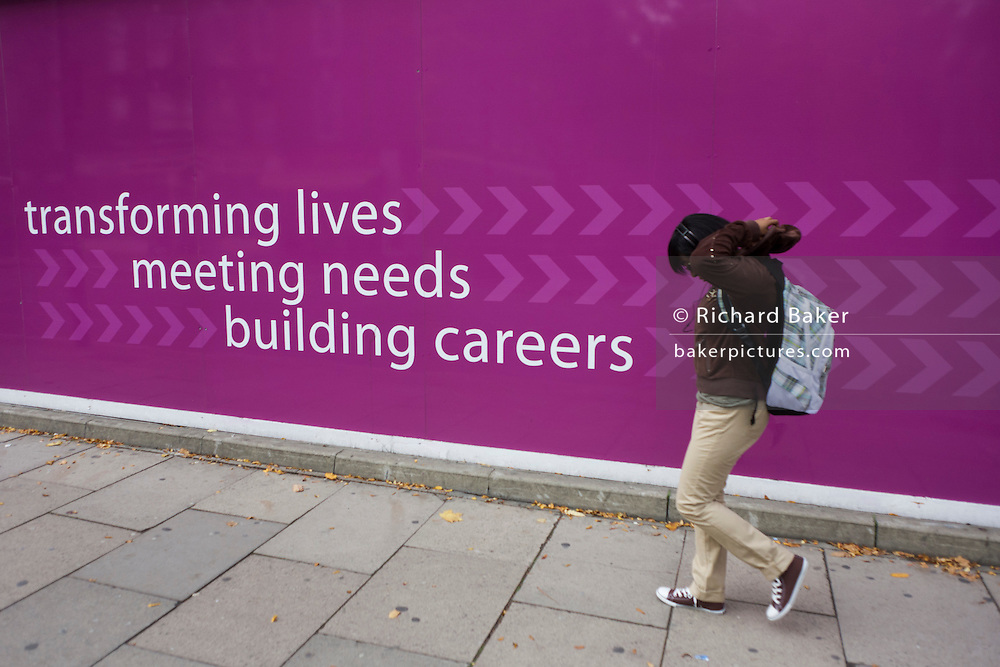 Education slogan for London Metropolitan University's Holloway Road campus.
