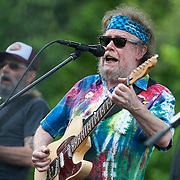 "June 9, 2012 - Vernon, NJ : Michael Falzarano, left, and David Nelson of the band ""New Riders of the Purple Sage"" perform during the 3rd annual ""Rock, Ribs & Ridges"" music and food festival in Vernon, NJ on Saturday. CREDIT: Karsten Moran for The New York Times"