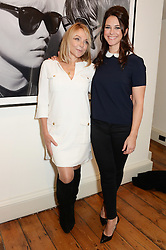 Left to right, HELEN FIELDING and BELINDA STEWART-WILSON  at a private view of Chris Stein/Negative: Me, Blondie And The Advent Of Punk, held at Somerset House, The Strand, London on 5th November 2014.
