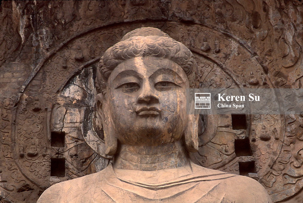 Buddha sculpture in Longmen Caves, Luoyang, Henan Province, China