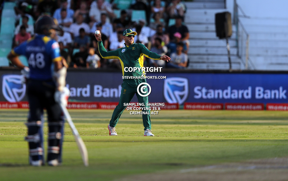 Faf du Plessis of the (South African Proteas) during the 2nd ODI Momentum One-Day International (ODI) series South African and Sri Lanka at Kingsmead, Durban, South Africa.1st February 2017 - (Photo by Steve Haag)