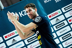 Alen Hodzic of Sixt Primorska celebrates after winning during basketball match between KK Sixt Primorska and KK Hopsi Polzela in final of Spar Cup 2018/19, on February 17, 2019 in Arena Bonifika, Koper / Capodistria, Slovenia. KK Sixt Primorska became Slovenian Cup Champion 2019. Photo by Vid Ponikvar / Sportida