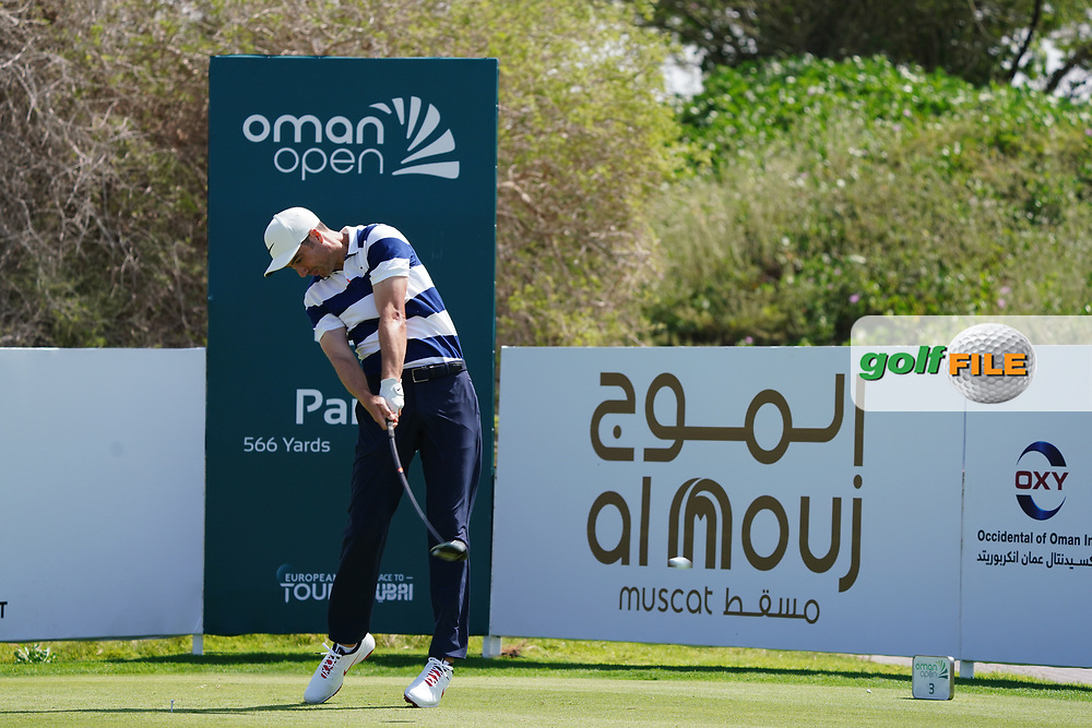 Ross Fisher (ENG) on the 3rd during Round 2 of the Oman Open 2020 at the Al Mouj Golf Club, Muscat, Oman . 28/02/2020<br /> Picture: Golffile   Thos Caffrey<br /> <br /> <br /> All photo usage must carry mandatory copyright credit (© Golffile   Thos Caffrey)