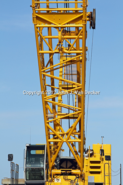 A closeup of a crane. Newport, Rhode Island, USA