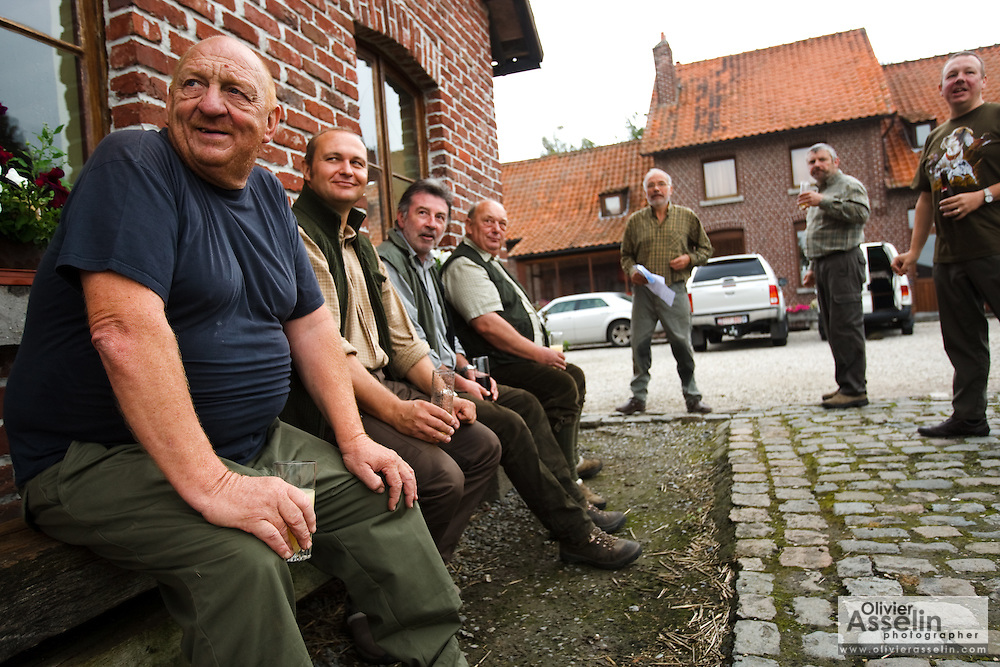 Partridge hunting in rural Belgium on Friday September 10, 2010.