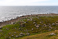 Norway, Rogaland, Obrestad. View from Obrestad Lighthouse.