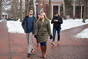 Students and their siblings walk through college green during Sibs Weekend 2019. Photo by Hannah Ruhoff